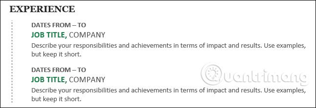 Cách tạo Resume trong Microsoft Word - Ảnh minh hoạ 7