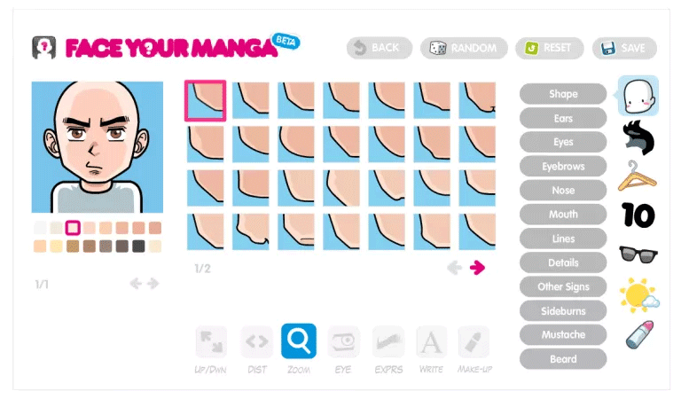 Trang web Face Your Manga