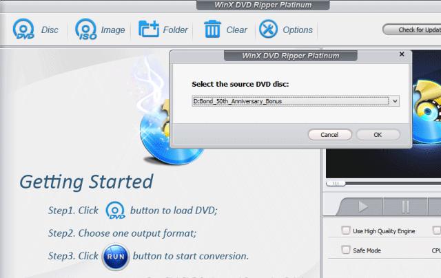Phần mềm WinX DVD Ripper