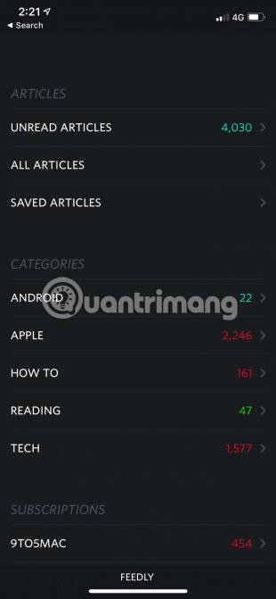 Unread là một trong những trình đọc RSS tốt nhất cho iPhone