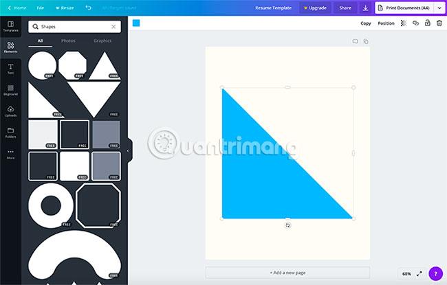 Element > Graphics > Shapes