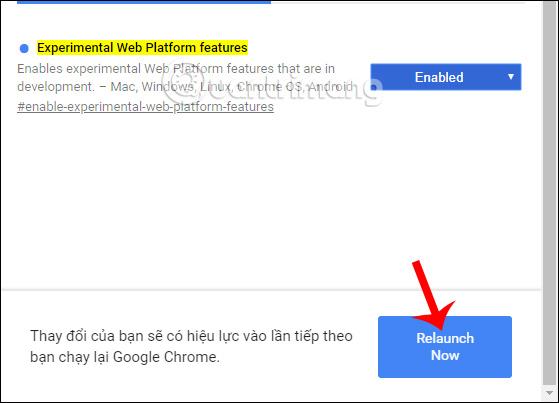Khởi động lại Chrome
