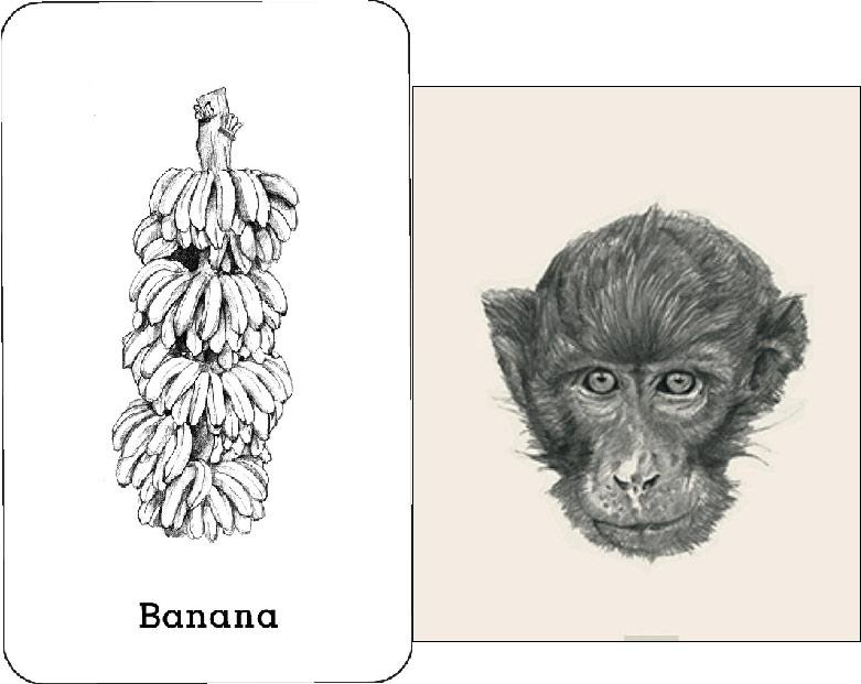 Ghép khỉ ăn chuối