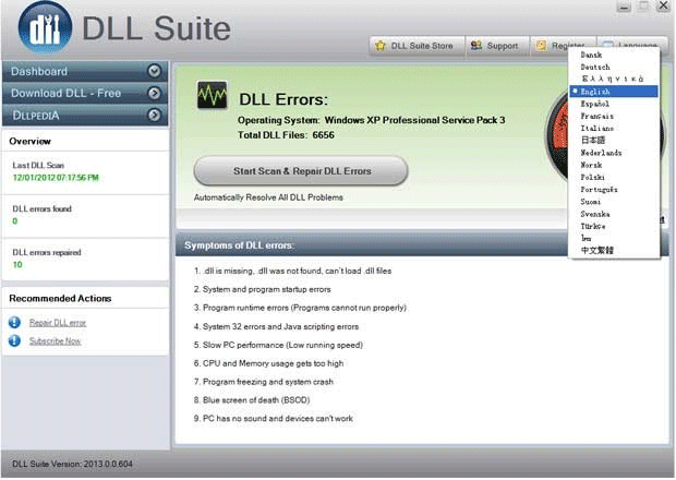 DLL Suite software