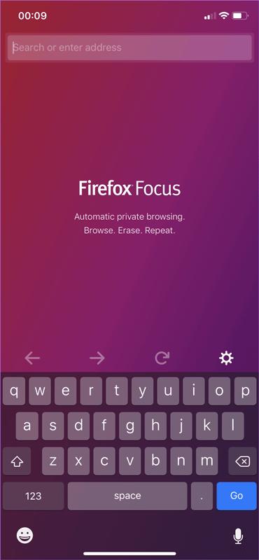 Trình duyệt Firefox Focus