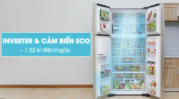 Tủ lạnh Hitachi 540 lít r-w660pgv3 2