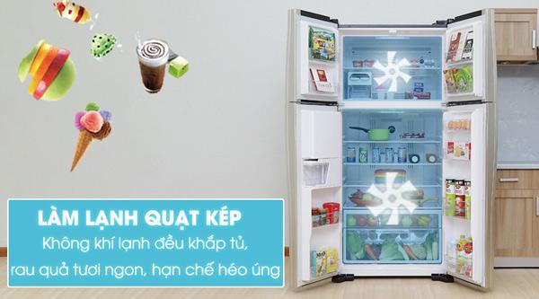 Tủ lạnh Hitachi 540 lít r-w660pgv3 3