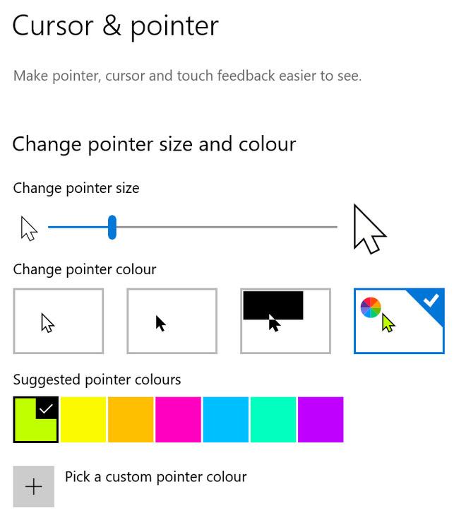 Trong từng mục cài đặt được bổ sung thêm hình ảnh minh họa dễ hiểu