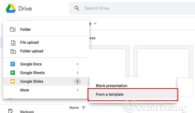 Cách tạo bài thuyết trình trong Google Slides