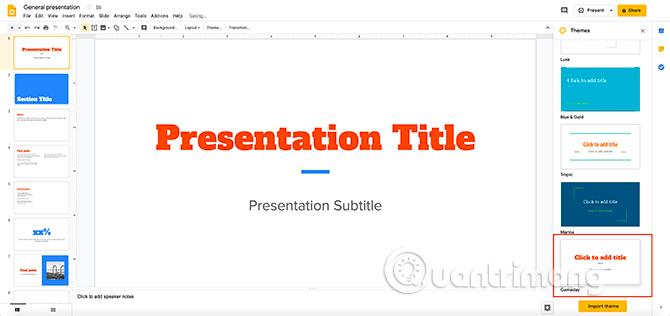 Cách tạo bài thuyết trình trong Google Slides - Ảnh minh hoạ 9