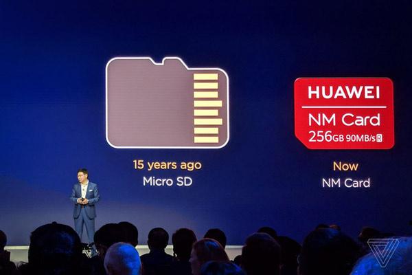 Huawei lần đầu giới thiệu NM Card hồi cuối năm 2018
