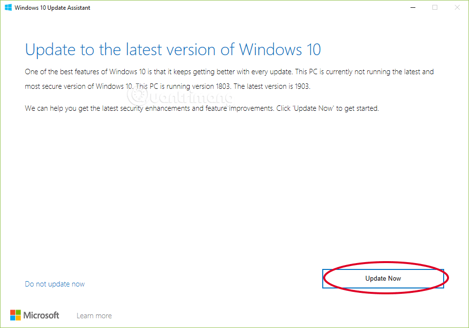 Cách cập nhật Windows 10 lên Windows 10 May 2019 (1903