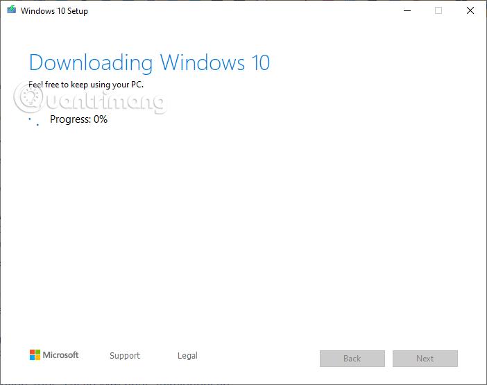 Tải file cập nhật Win 10 về máy