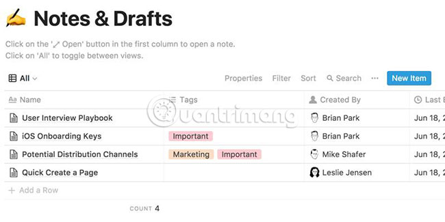 tìm hiểu về notion - ứng dụng ghi chú thay thế evernote