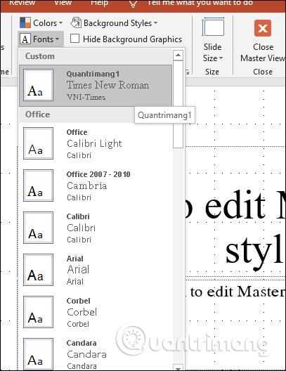 Cách đổi font chữ mặc định trong PowerPoint - Ảnh minh hoạ 4