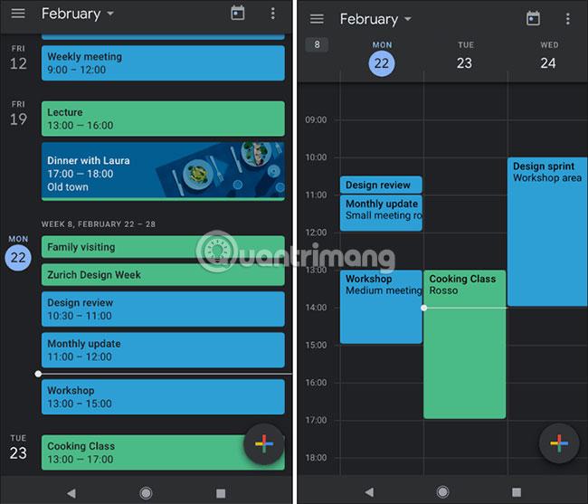 Kích hoạt Dark Mode cho Google Calendar