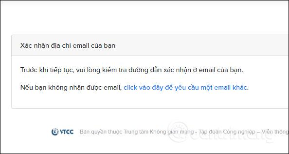 Xác nhận địa chỉ email
