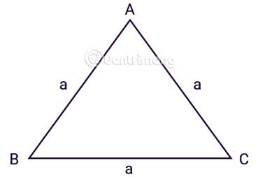 Tính diện tích tam giác đều