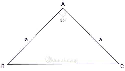 Tính diện tích tam giác vuông cân