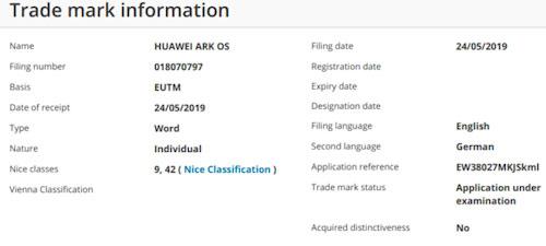 Ark OS có thể là tên hệ điều hành Huawei phát triển để thay thế Android của Google