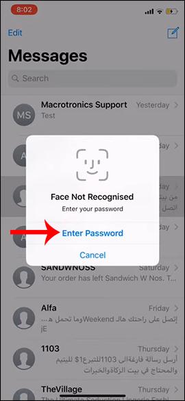 Báo lỗi Face ID