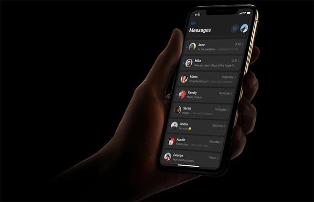Dark Mode trên iOS 13