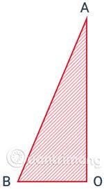 Tam giác vuông ABO sử dụng để tạo hình nón