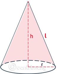Tính diện tích xung quanh hình nón