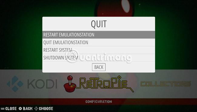 Restart the EmulationStation