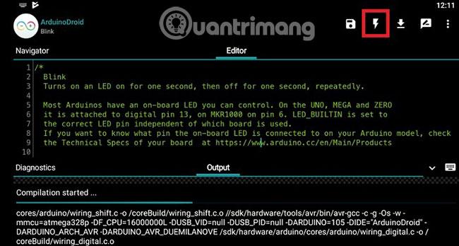 Cách lập trình Arduino bằng điện thoại Android - Quantrimang com