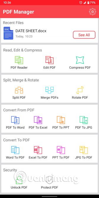 Các tùy chọn của Fast PDF Converter