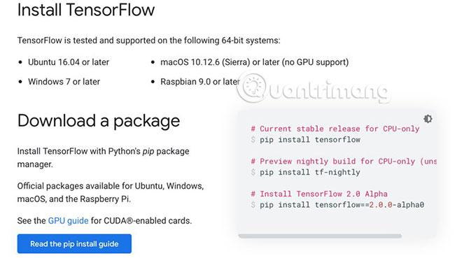 Cài đặt TensorFlow trên Linux