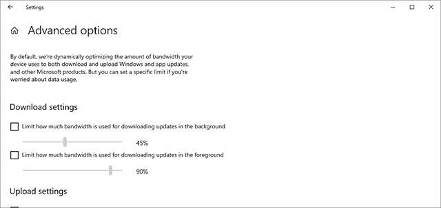 Thiết lập lượng băng thông chính xác cho Windows Update