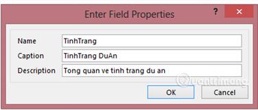 Cập nhật trường TinhTrang