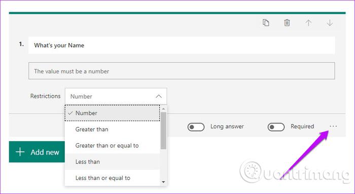 Hướng dẫn sử dụng Microsoft Forms - Ảnh minh hoạ 4