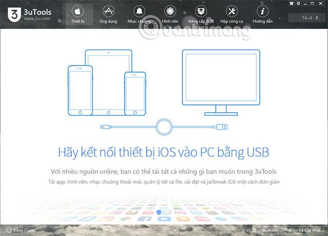 3uTools wallpaper interface