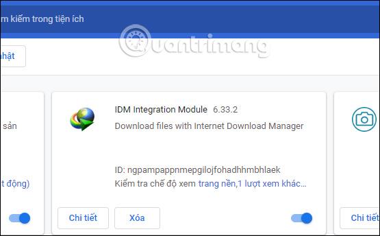 Thông tin tiện ích IDM
