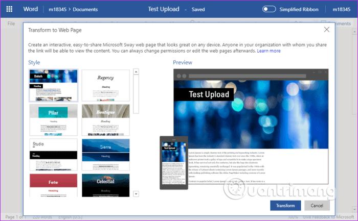 11 mẹo và thủ thuật sử dụng Microsoft Word Online bạn nên biết - Ảnh minh hoạ 14