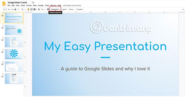 Cách tạo và sử dụng gradient tùy chỉnh trong Google Slides