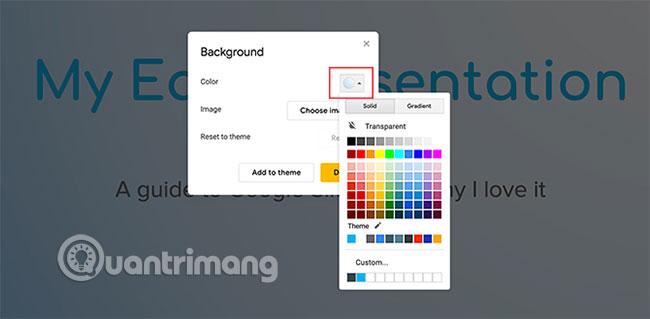 Cách tạo và sử dụng gradient tùy chỉnh trong Google Slides - Ảnh minh hoạ 2