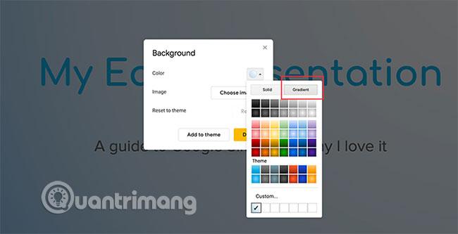 Cách tạo và sử dụng gradient tùy chỉnh trong Google Slides - Ảnh minh hoạ 3