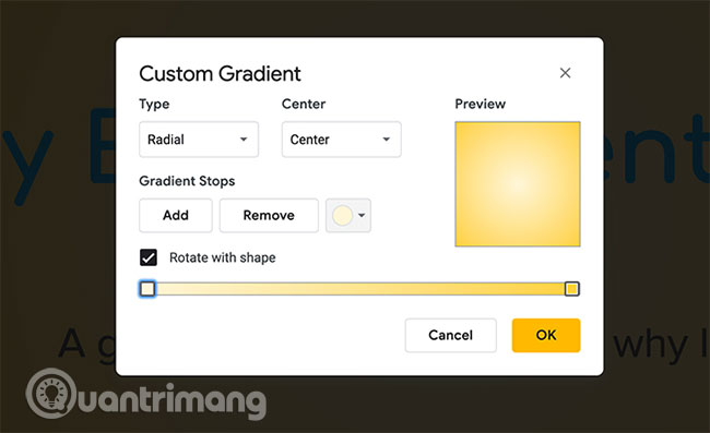 Cách tạo và sử dụng gradient tùy chỉnh trong Google Slides - Ảnh minh hoạ 6