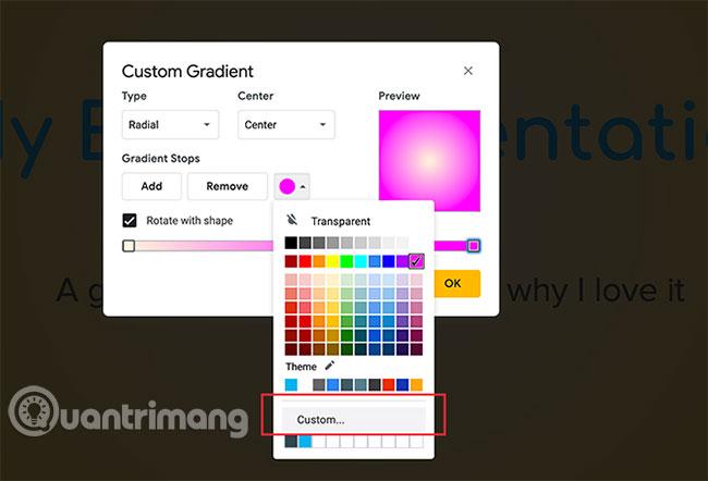 Cách tạo và sử dụng gradient tùy chỉnh trong Google Slides - Ảnh minh hoạ 8