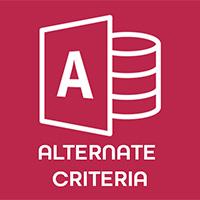 Tiêu chí thay thế (Alternate Criteria) trong Access 2016