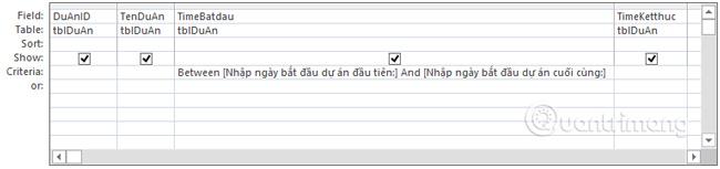 Hai cụm từ sẽ xuất hiện trong thông báo khi chạy truy vấn