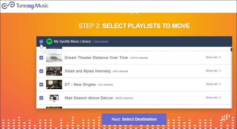 Nhấp vào nút Select Destination