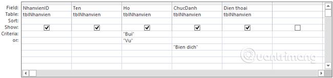 """Thêm """"Biendich"""" vào trường Chucdanh để lấy thêm bản ghi"""