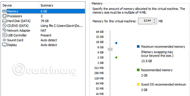 Chỉnh sửa cài đặt máy ảo macOS Mojave