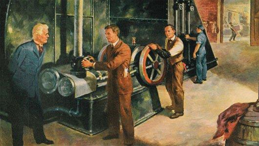 Willis Carrier đang vận hành hệ thống điều hòa không khí do mình phát minh ra.