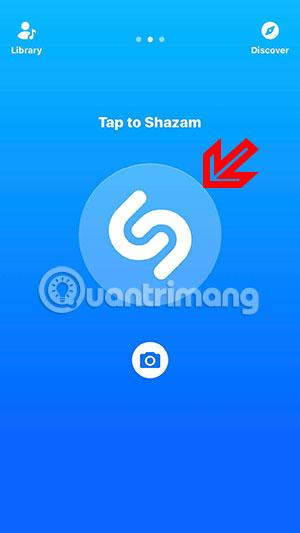 Bấm biểu tượng Shazam